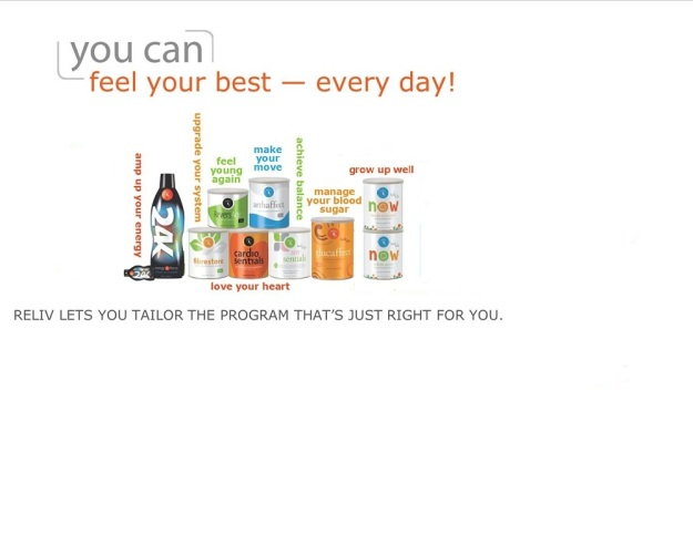 Design your own nutritional program with Reliv